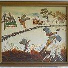 Folk Art Vintage Painting Pheasant Moonshine Ornithology J Eifert Vignettes Snow