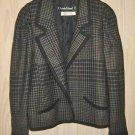 Louis Feraud Jacket Hunting Cropped Military Blazer Vintage 80s NOS Dolman 10