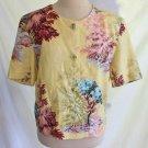 Vintage 80s Trophy Jacket Trafficube Blooming Tree Print Leaves Flower NOS Italy