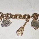 Charm Bracelet Vintage Heavy Link 9 KENT Furniture Arts and Crafts Guitar Moving