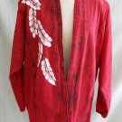 Vintage 80s NOS Luci Wagener Hand Painted Cowgirl Denim Jean Batwing Western