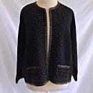 Vintage 60s Jacket Beaded Trophy Cardigan Countess Maria de Pisa Deadstock NOS