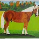 Vintage Original Painting Horse Southern Folk Art Ranch Equine Ramirez Poinciana