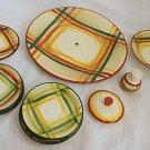 "Tam O Shanter Vintage Parts 3 Tiers Serving 13"" Saucers Plates Lid Salt Deco"