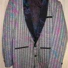 Tuxedo Vintage 60s NOS Mixed Print Jacket  Rat Pack Rad Clad Deadstock S