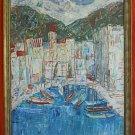 M Petri Italy Vintage Painting Lago Maggiore 50s Impressionist Italian Landscape