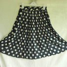 Fluted LOUIS FERAUD SKIRT Deadstock Vintage 70s Full Flared Pleated Graphic Dot