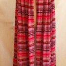 Vintage 70s Cape Giorgio Sant Angelo Knit Maxi Ikat Elizabethan Ruffle Coat