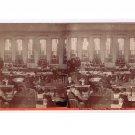 Stereoview J P Spooner Stockton California Interior Business College 1860's