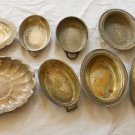 Hollywood Regency Vintage Collection 8 Silverplate Oval Platters Serving Bowls