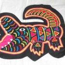 Mola Alligator Pillow Cover Folk Art Vintage Decor Kuna Needlework Crocodile