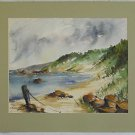 Vintage Watercolor Painting L Markeloff California Cove Dreamy Landscape Western