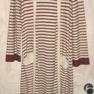 Vintage 70s Maxi Knit Pastel NOS  Medici Sweater Cardi Coat Shawl Robe Oversize