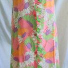 Lounge Craft Original NOS Deadstock Vintage 60s Flower Pastel Print Robe Ruffle