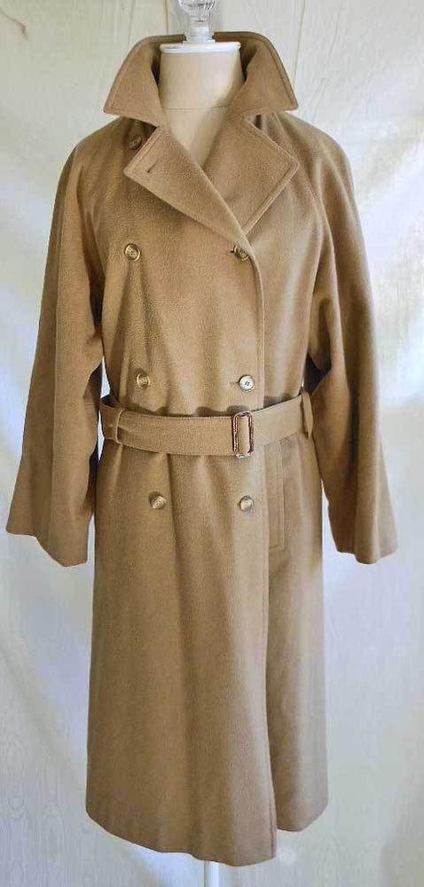 Salko Alpaca Austrian Loden Winter Coat Trench Wrap Military Vintage 60s Camel