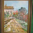 Original Painting Impressionist Gunnoe Farm Provence Vintage Decor French