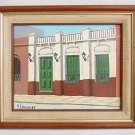 Vintage Painting South America M Erregue Colonial Architectural Element Framed