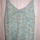DKNY Jeans Camisole Filmy SILK Corset Top Blouse Slight A Line 12 NOS Deadstock
