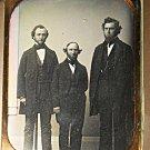 Daguerreotype 3 Men Standing Full Length  Southworth & Hawes Antique Victorian