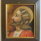 Vintage Original Painting Jesus Christ Religious Art Framed JC Messiah Zandol