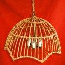 Franco Albini Vintage Chandelier Hanging Light Rattan Mid Century Modern 6 Light