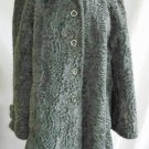 NOS Deadstock Vintage 50s Faux Gray Persian Lamb Swing Coat A Line Item House