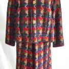 Bonnie Cashin Vintage 60s Sills Auto Toggle Closing Skirt Blazer Suit Wool Plaid