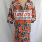 Seminole Big Shirt Patchwork Mens Native American Indian UM Miami Orange