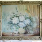 Eleanor G Rankin Vintage Antique Painting California San Francisco White Flower