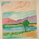 Marco ZIM Russia 30s Original Watercolor Pastel Painting Jewish Artist WPA Era