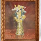 Modernist Vintage Oil Painting Still Life Flowers Daffodils Bill Cope Texas