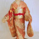 DOLL Cloth Antique Vintage Early WWII Oriental Japanese Geisha Japan 10""