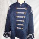 NOS Sample Denim Trophy Jacket Diane Gilman Military Band Metallic Braid 1X Plus