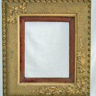 Antique Victorian Gold Flower Picture Fancy Frame Stars Velvet Romantic Large