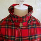 GRUNGE Burberrys Burberry MENS Tartan Plaid Jacket Cropped Trenchcoat Trench Red