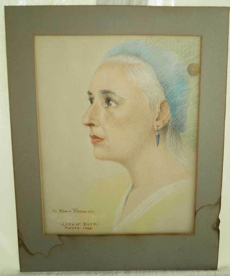 Painting Opera Vintage Moderne Leslie Buck Maria Margelli Portrait Watercolor