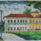 Brazil Vintage Edson Mondego Oil Painting Landscape Colonial Impressionist