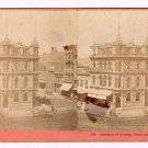 Stereoview Houseworth San Francisco 109 Junction of Kearny Geary and Market St