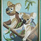 Vintage Koala Bear Needlework Eucalyptus Tree Textile Tropical Animal Kid Child