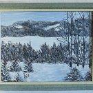 Original Painting Vintage Snow Landscape Rockies Western J Wood Winter