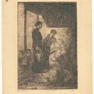 Marco ZIM Russia Russian Etching Lower East Side Manhattan NY Jewish Antique 30s