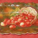 ANTIQUE Royal Munich Oval Platter Hand Painted Fruit Decor Classical Regency