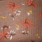 Vintage Antique Fabric Yardage DMR Textile Palm Tree Boat Ornithology NOS