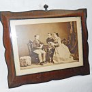 Victorian Albumen Photograph Chess Players Antique Pach New York Rosewood Frame