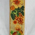 Vintage Celtic Needlepoint Scottish Thistle Wall Hanging Scroll Textile Decor