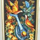 Vintage Antique Needlepoint Phoenix Rising Bird Mandolin Frame Music Ornithology