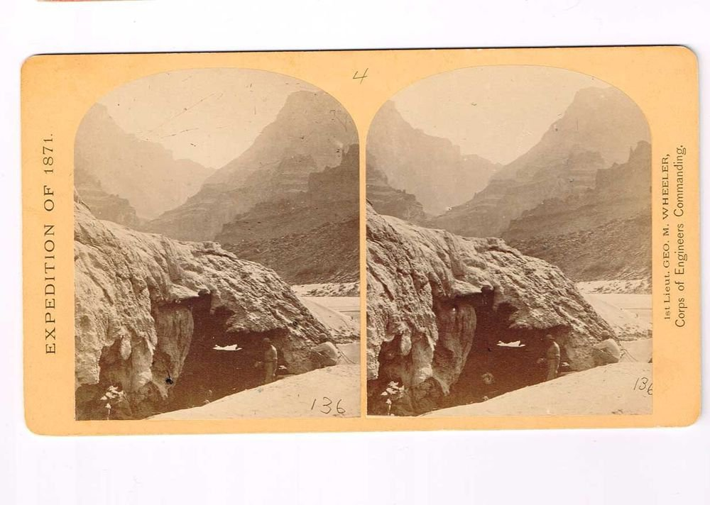 Stereoview Wheeler Expedition 1871 136 No4 O'Sullivan Photo Sketch Artist Grotto