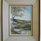 Vintage Original Painting Birch Tree California Landscape Hills D Onetil 1975