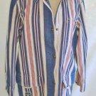 NOS Hunting Utility Barn Jacket Folky Coat Ralph Lauren Stripe Red Cream Navy M
