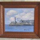 Cuba Oil Painting Vintage  Morro Castle Havana Lighthouse Decor Lorelay R Marine